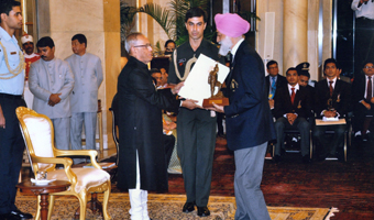 The President of India, Shri Pranab Mukherjee, awarded the Arjuna award of Adventure called the 'Tenzing Norgay National Adventure Award' for Lifetime Achievement to Mandip Singh Soin FRGS.