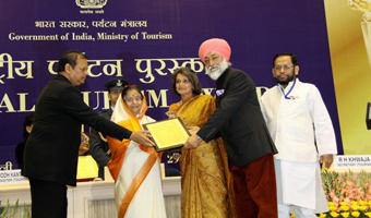 Ibex Expeditions was honoured by the President of India at the Vigyan Bhawan in New Delhi, on 29th February 2012 as the 'Most Innovative Tour Operator' of India.