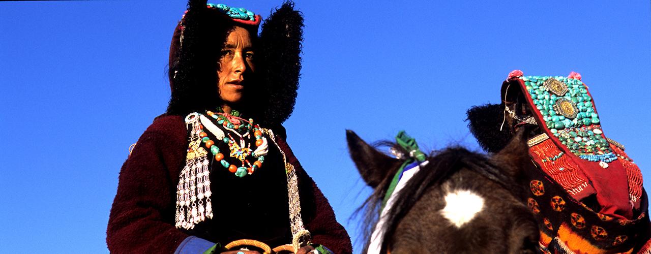 Zanskari Woman on Horseback In The Ladakh Himalaya - Ibex Expeditions