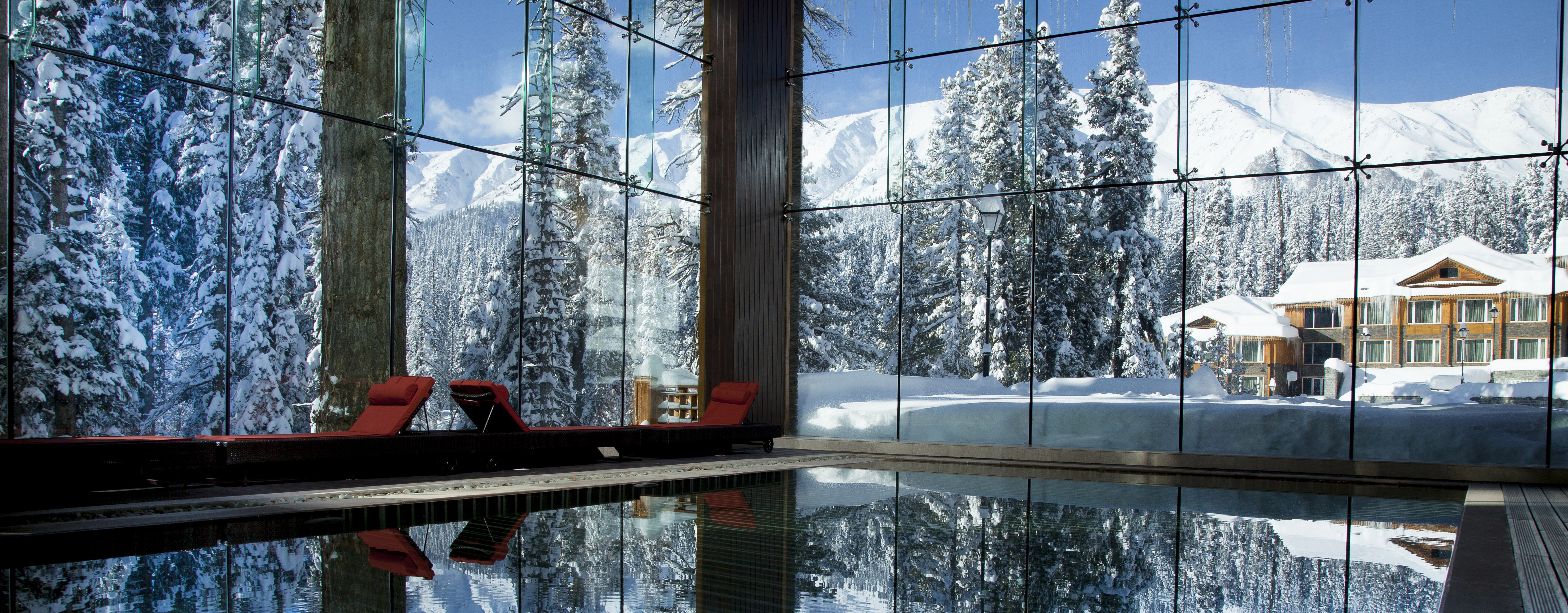 The Khyber Wellness Block View From Indoor Pool- Ibex Expeditions