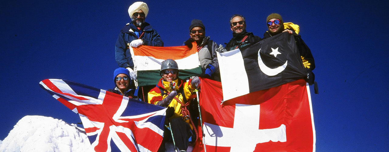 Indo-Pak Friendship Expedition in the Swiss Alps, supported by the UN - Ibex Expeditions